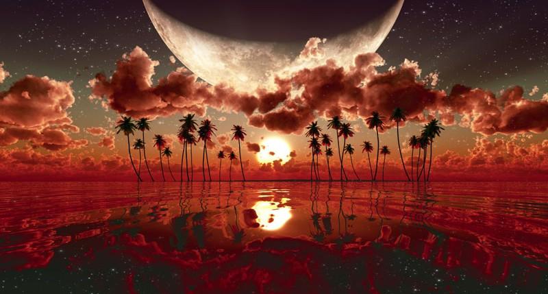 Beschreibung Mondphasen Vollmond 2014