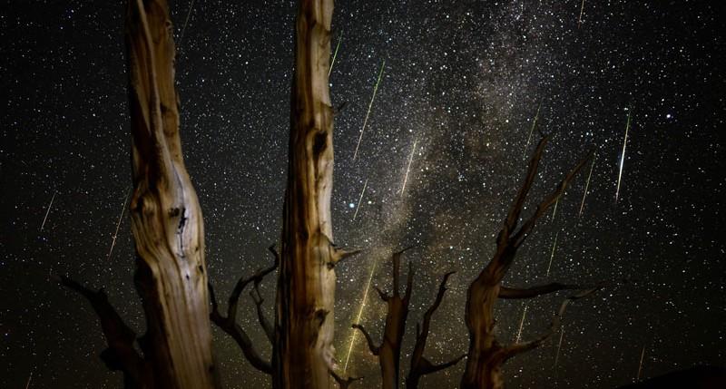 Beschreibung Naturereignisse Sternschnuppen-Maximum der Leoniden 2014