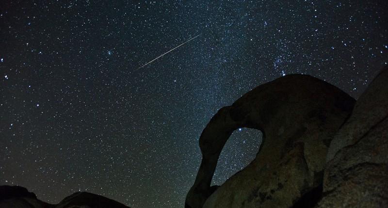 Beschreibung Naturereignisse Sternschnuppen-Maximum der Geminiden 2014